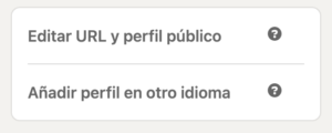 Cambiar URL LinkedIn